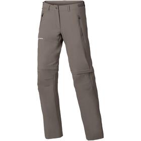VAUDE Farley Stretch Zip-Off T-Zip bukser Damer, grå
